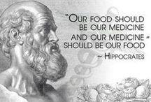 """NATURAL HEALTHY / """"Let your medicine be your food and your food be your medicine."""" Hippocrates / by F L Á V I A"""
