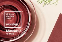 Pantone 2015 Marsala / I know technically the colour is defined as a slightly red brown, but I don't like brown! So I'm interpreting it as a red wine, burgundy, ox blood type of shade