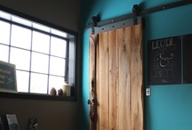Flat Track Barn Door System 2.0 / Our flat track barn door system is custom made to measure. All hardware is fabricated and tailored to your needs. Please inquire for pricing.