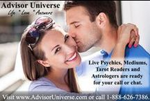 Psychic Readings / Find out about your past, present, and future!  Get help in all matters of life: love, relationship problems, finances, career choices, health, addictions, and more!