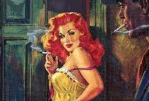 pulp fiction / saucy vintage books  / by Emma H