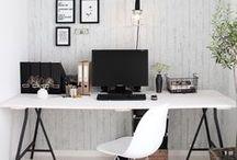 Office Ideas / Home office, office, office decor, home office decor, office, desk, desks, computer desk, rustic home office, blogger home office,