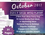 Your Social Plan / Social Media Planner with 70 images, 90 post ideas, 30 tips, hashtags, holidays, national days, tasks and more! Up your social media game with Your Social Plan a daily Social Media Post Planners by Socially Inclined. www.yoursocialplan.com
