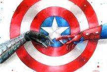 Cap, his Bucky, Tony / Yaoi only from Marvel comics and movies about Capitan America, Iron Man and Winter Soldier (all about Civil War)