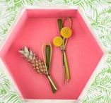 Styling: Pineapple Party / Tropical colors and fun details make for the perfect summer party!