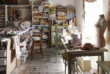 Atelier couture, sewing room