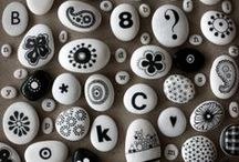❤ pebbles . stones . rocks . pedras . galets . stenen / Please check also my own hand painted pebbles:  Pinterest ❤ Pebbles of Portugal by PURE.image /  Facebook ❤ Pebbles of Portugal / by Sabine Ostermann