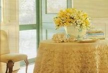 Yellow Pages Wedding / Yellow is the color of gold, butter, or ripe lemons...A perfect palette for a wedding brunch