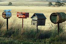 Boîte aux lettres , mail box / Le facteur est passé.