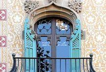 Art Nouveau Doors Barcelona