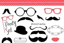 We Love Mustaches / Everything fun that has to do with mustaches. Lots of party ideas and digital mustchae downloads! #mustaches