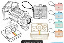Camera Clip Art / Here you can find all different styles of camera clip art. #camera #clipart #design
