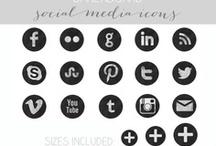 Social Media Icons / Unique social media icons #clipart #socialmedia #icons