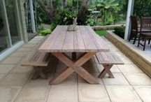 Timeless #Teak / #Teak is the very best timber used in furniture. Teak is a natural wood, ideal for outside furniture. It contains natural oils that protect it against wet and cold weather. It can also be treated with teak oil giving it more protection against the elements.