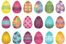 Hidden Easter Eggs on Luvly Marketplace / Easter is upon us! Here are a few gorgeous Easter themed clipart, vectors, DIY party suites in our marketplace.