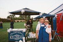 Wedding food carts / A selections of wedding food carts at Riverside Weddings, Oxfordshire.