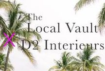 Miami Brights : D2 Interieurs x The Local Vault / Let Denise Davies of D2 Interieurs and The Local Vault take you on a trip to the sunshine drenched, color happy city of Miami where bold joyful hues meet sleek sophisticated neutrals to create a sophisticated and sunny mix.