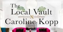 Caroline Kopp Curated Collection / Shop along with Westport based interior designer Caoline Kopp whose eye for international style brings a sophisticated take on home style. Her shopping picks from The Local Vault combine sleek lines with both bold colors and soft neutrals for an eclectic look. Shop the collection: www.thelocalvault.com