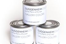 Partners: Guggenheim Colors by Fine Paints of Europe / The Gallery Colors include the colors chosen for the museum by F.L. Wright and those preferred by generations of curators and living artists.  The Classical Colors reflect the museum's collection of modern masterpieces by artists such as Cezanne, Van Gogh, and Kandinsky.