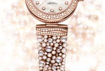 Pearl Watches / Amazing watches with pearls, vintage lapel watches and pendant watches. #pearl #pearls
