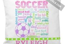 Soccer / Awesome gifts for soccer players and fans, many you can personalize