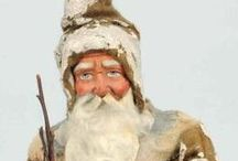 Santa Claus Figures / Santa Claus in all of his various forms and in every medium possible!  Wonderful!