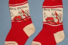 Christmas Stockings / Whether commercially available, homemade or pulled from the sock drawer, what magic awaited the patient child on Christmas morning!