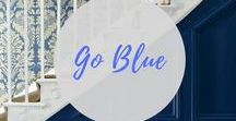 BLUE - Interior decor ideas / Interiors inspired by the colour blue - blue in the living room, on walls, furniture and on the floor. Think blue tiles, blue sofas and all the paint colours for Farrow & Ball, Little Greene, Dulux and more.