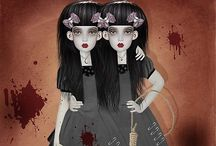 The sisters... / Strangest of two....I'm the Salem to your Alice, Your the Alice to my Salem!!!!!!! / by Mally Hollow Horn