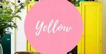Yellow - Interior decor ideas / The psychology of yellow and how to incorporate this colour in your interior decor. A totally zingy colour that likes to scream out loud! How to pair it and how to tone it down!