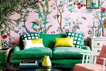 Wallpaper Guide / New inspiring wall coverings: wallpaper, murals, paint, Farrow and Ball, Cole and Son, Sanderson, Zoffany, Dedar, geometric wallpaper, floral, Designers Guild, Little Greene