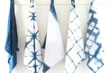 Handarbete. Textilfärg. / Inspiration till att färga textil till olika mönster med olika tekniker.