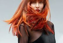 Colors of Fire #sghairdesign / We love reds! All the different shades of red we can find.