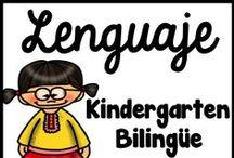 Kindergarten Bilingue Lenguaje / En este tablero se encuentra materiales educativos para el abecedario (el alfabeto), la fonética, el reconocimiento fonológico, las sílabas, trazando, y manualidades para niños de pre kínder, preescolar, y kindergarten.