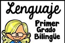 Primer Grado Lenguaje / En este tablero se encuentra materiales educativos para la escritura, la gramática, las sílabas, los trabajos por la mañana, las sumas y restas, reportes de no ficción, y manualidades para niños de primer grado.