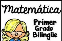 Primer Grado Matematica / En este tablero se encuentra materiales educativos para el repaso de los números, las sumas y restas, el valor posicional, formas en 3D, cuadernos interactivos y las manualidades para niños de el primer grado.