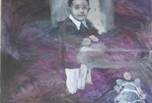 moje / mé obrazy a rodina a pletení
