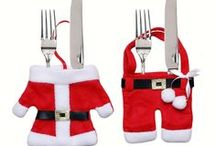 Christmas Decorations - Festive & Party Supplies / Embellishing your home with Christmas decorations. Christmas tableware, decor toilet Seat, stockings, bottle cover, table decoration, santa suit clothes and other holiday accents can transform any space into a festive wonderland.