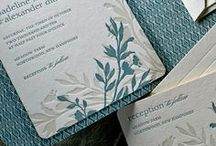 Letterpress invitation cards