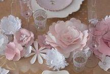 Paper table decorations/ centerpieces