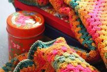 Crochet_granny squares_blankets_pilows