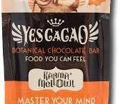 KARMA MELLOWL / Karma Mellowl aka. Brain Food: The Golden Chocolate bar, features botanical infusions that support short-term memory and vision.   ................................. INGREDIENTS:  Cacao Butter*^, Sundried Cane Sugar*, Lucuma*, Maca*, Mesquite*, Yacon*, Vanilla*, Coriander*, Lion's Mane*, Ginko*, Turmeric*, Pine Pollen^, Cinnamon*, Bacopa*, Gynostemma*, Sea Salt *Organic ^wild