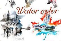 watercolor!