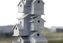 bird houses / I love bird houses and love looking at how they relate to architecture.
