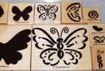 SU Flutterbys (Definitely Decorative) / Stampin' Up! Retired in 2004.