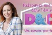 Emission D&CO / Résumé en images de l'émission D&CO dans laquelle apparaissent des coussins Gris Pastel