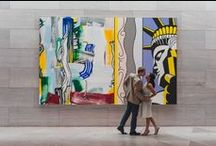 Oscar & Michelle, National Gallery of Art, Washington DC / Beautiful moment of Oscar and Michelle engagement photo session in National Gallery of Art in Washington DC. Photographer - Mantas Kubilinskas. www.mantasphoto.com
