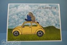 SU Beautiful Ride / Stampin' Up! 2016 Occaisions Catalog (pg 15)  stamp set can be complimentarily combined with SU 'Groovy' and SU 'Smile' stamp sets.