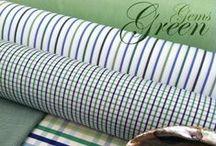 Green Shirting Fabrics / Gorgeous Greens