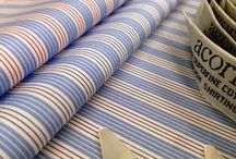 """36"""" Grasmere Striped & Checked Shirtings / 2/160's Superfine 100% cotton shirtings"""